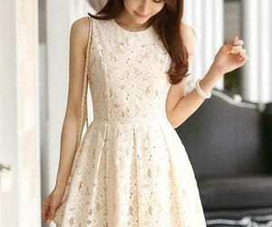 pretty, dress, and girl image