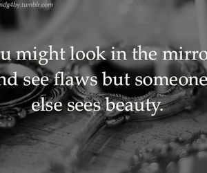 beautiful, mirror, and flaws image