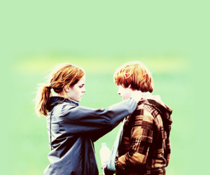 hermione granger, ron weasley, and couple image