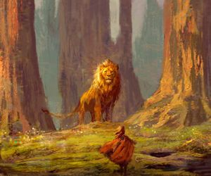 narnia, book, and lion image