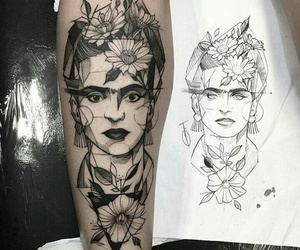 tattoo, frida kahlo, and art image