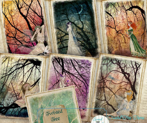 card making, etsy, and Fairies image