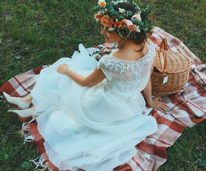 bride, decor, and flower image