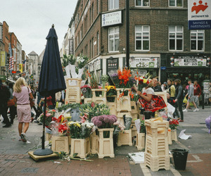 flowers, street, and vintage image