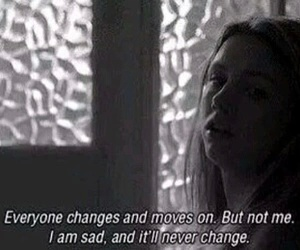 sad, skins, and quote image