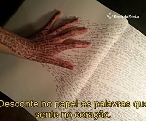 escrever, palavras, and papel image