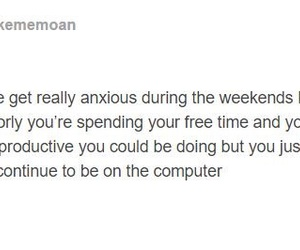 anxious, computer, and quotes image