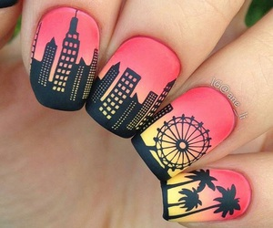 nails, city, and black image