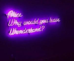 purple, alice, and wonderland image