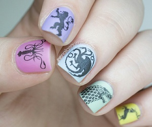 nail art, nails, and game of thrones image