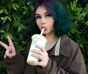 boba, colorful hair, and colors image