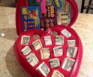 heart, money, and tickets image