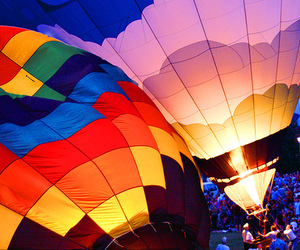colorful and hot air balloon image
