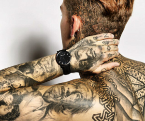 model, tattoo, and stephen james image