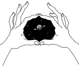 art, drawing, and space image