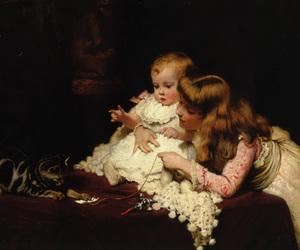 children and victorian image