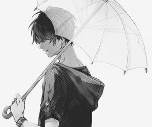 boy, rain, and smile image
