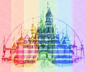 disney, castle, and colors image