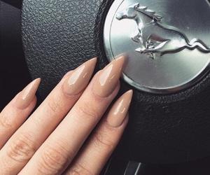nails, car, and fashion image