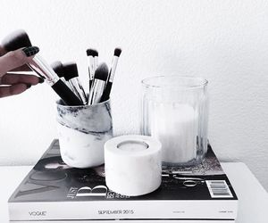 white, chanel, and makeup image