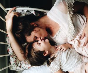 baby, mom, and love image