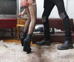 girl, couple, and legs image