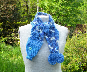 by the sea, fish, and scarf image
