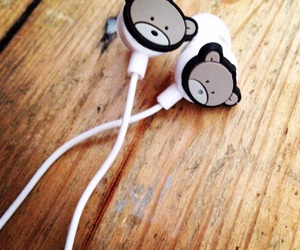 bears, earphones, and cute image