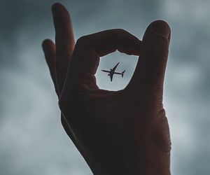 travel, fly, and hand image