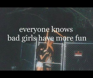 girl, bad, and fun image