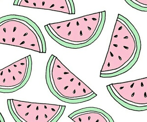 watermelon, pink, and white image