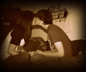 couple, kissing, and cute image