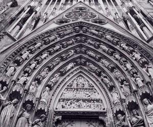 art, b&w, and church image