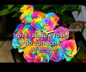 goals, rainbow, and roses image