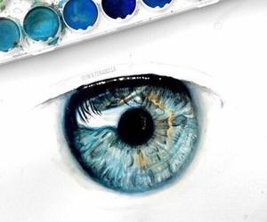 art, eye, and blue image