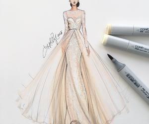 dress, art, and fashion image