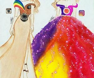 art, girl, and social image