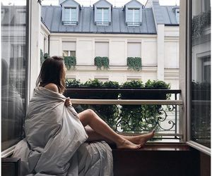 girl, morning, and window image
