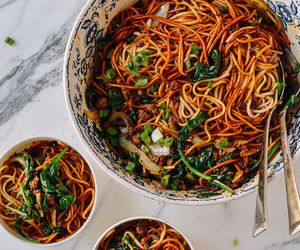 asian, noodles, and vegan image
