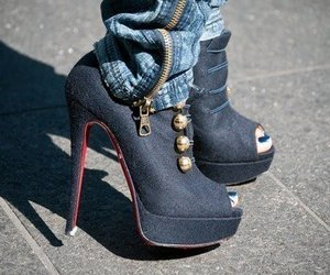 shoes, heels, and jeans image