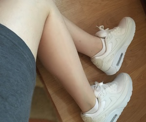 air max, nike, and legs image