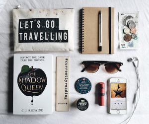 books, color pens, and desk image