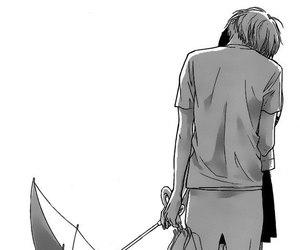 kiss, manga, and monochrome image
