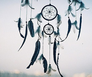 bohemian, feathers, and sky image