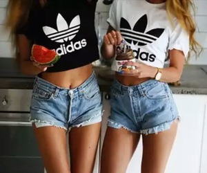 adidas, tanned, and watermelon image