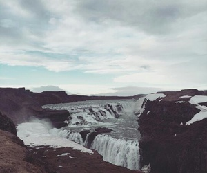 blue, iceland waterfalls, and falls image