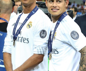 real madrid, cristiano ronaldo, and james rodriguez image