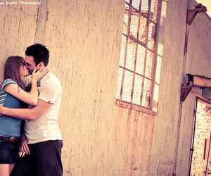 couples, kissing, and love image