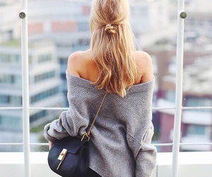 fashion, hair, and bag image