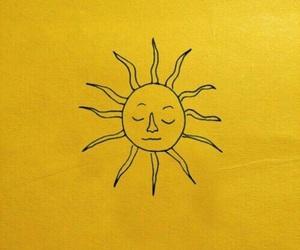 yellow, sun, and aesthetic image